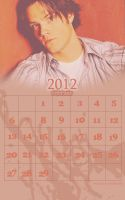 Jared Padalecki calendar 2012 february by sundaymorning666