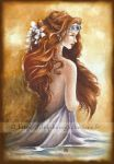 Viviane, the lady of the lake by delfee