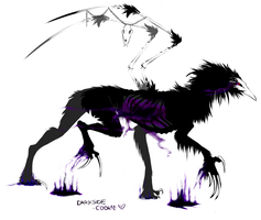 forsaken raven demon by Darkside-Cookie