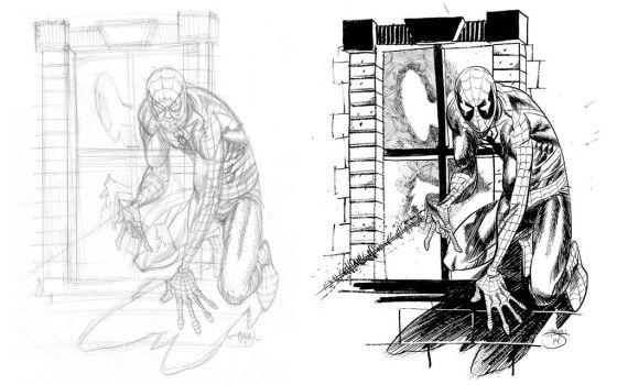 Spider Man, Pencils and Inks by Inkpulp