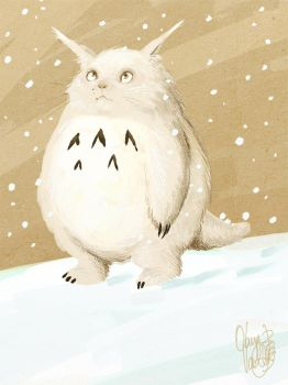 Albino totoro by OlayaValle