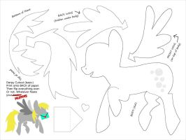 Derpy Cut-out Template - for Paper Art by plaidsandstripes