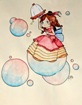 Bubble Lady by mikkichan17
