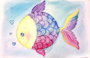 Colorful fish by aurangelica