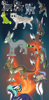 New Adoptables by RivotAdopts