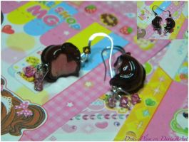Strawberry Chocolates Earrings by Demi-Plum