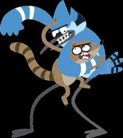 Mordecai and Rigby Vector by AtomicAzure