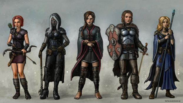 Baldur's Gate Party Time by SirTiefling