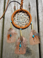 Turkey and Turquoise Dreamcatch by JourneytoRevenge
