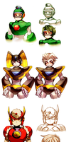 helmetless robot masters by Nyaph