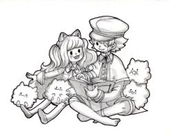 Oliver and young SeeU(1) by hahuchal