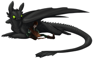 HTTYD Toothless and Hiccup by Triple-Torch-Art