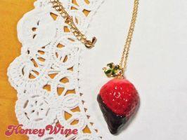 Strawberry pendant by rriee