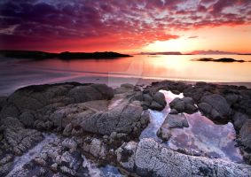 Fire in the Arisaig Sky by DL-Photography
