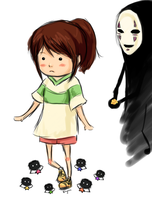 Chihiro Noface Soot Poofs doodle by Rhyara