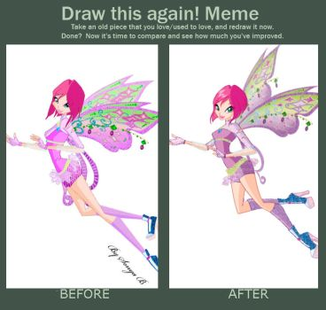 Draw this again meme. Tecna Winx by fantazyme