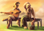 Song in sunset by Audrarius