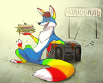Tinka the Chernobyl sandwich fox by JaylacineChiboa