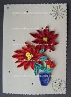 Quilling - X-Mas Card 2 by Eti-chan