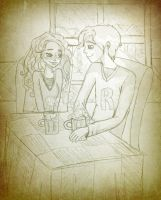 Ron and Hermione's First Date by Dreamer-Pearl
