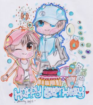 Boboiboy : Happy Birthday BBB Water! by Xierally