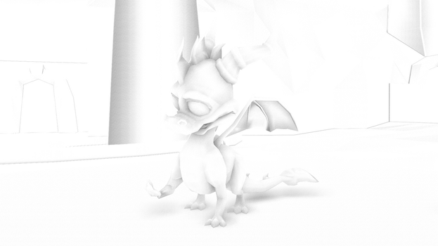 If Spyro had Ambient Occlusion by SpongeDragon15