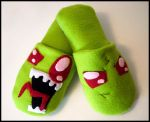 Invader Zim Cozy Slippers by jloli
