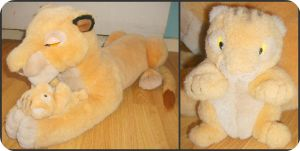 My Sarabi Nd Baby Simba Plushes by DrOpDeAdShElLy