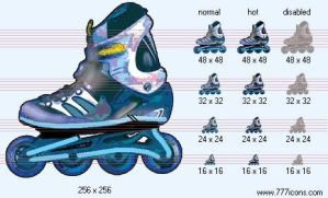 Roller skates Icon by sport-icons