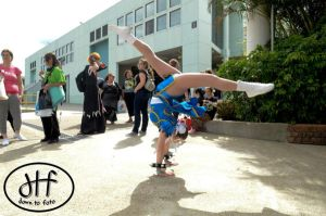 Chun Li Spinning Bird Kick by too-school-for-cool