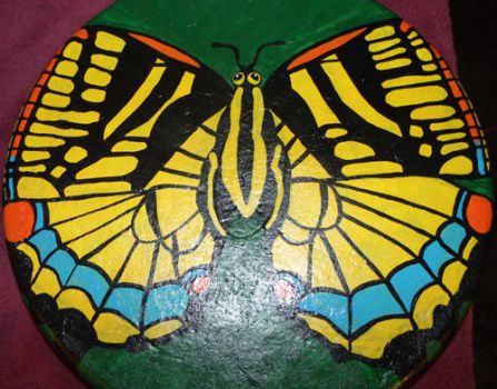 Yellow Swallowtail Butterfly Stepping Stone by EllaRow