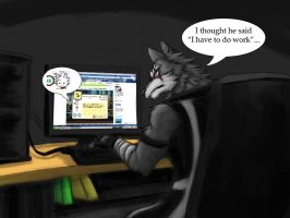 Facebook problem by Fenrirwolfen
