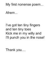 Silly Poem Number 1 by Aswang301