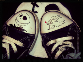 Nightmare Before Christmas Shoes by ffishy21