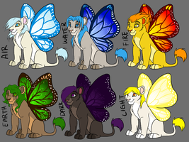Elemental Butterflion Adopts by Magicionary