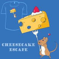 Woot Shirt - Cheesecake Escape by fablefire