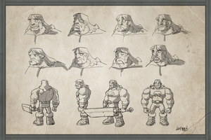 Barbarian Model Sheet by DerekLaufman