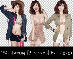 PNG Hyosung [3 renders] by ~lagsiga by lagsiga