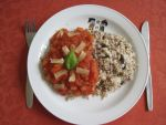 Fried rice with tomato sauce by flameshaft