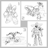 TF3 Linewait Sketches... by EmeraldBeacon