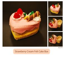 Strawberry Cream Felt Cake Box by ome-okane