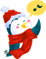Christmas Penguin by yuki-the-vampire