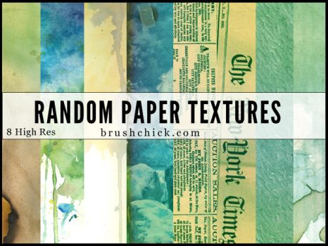 Texture Pack #1 - Random Paper Textures by brushchick