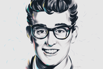 Buddy Holly by annfable