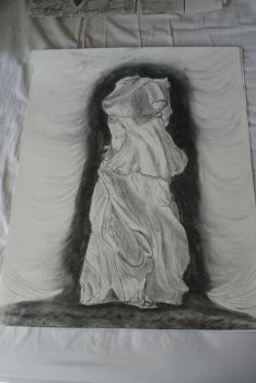 Charcoal drawing 3- Bust 2 by Katsmoka