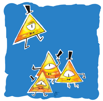 Bill Cipher Finds the Copy Machine by AAOlsonDesign