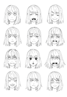 Kaori's Expressions by MaggieSoup