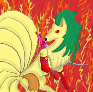 Terra Ninetails by ColdFlames0