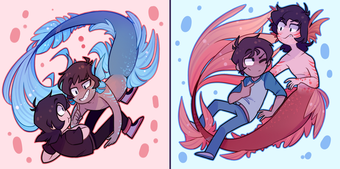 Mermaid au for the soul by Laser-Pancakes