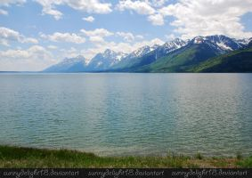 Lake and Mountains by sunnydelight18